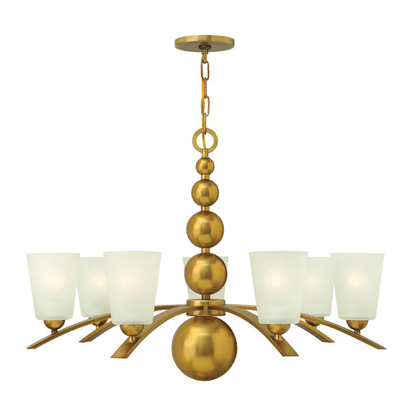 Hinkley Lighting Zelda 7 Light Chandelier - Vintage Brass HK-ZELDA7-VS