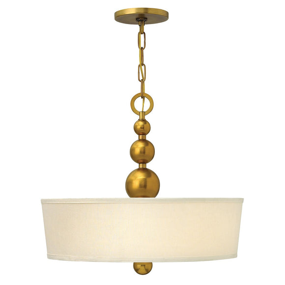 Hinkley Lighting Zelda 3 Light Pendant - Vintage Brass HK-ZELDA-P-B-VS