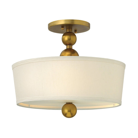 Hinkley Lighting Zelda 3 Light Semi-Flush - Vintage Brass HK-ZELDA-SF-VS