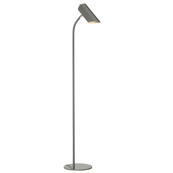 Elstead Quinto 1 Light Floor Lamp - Dark Grey Polished Nickel QUINTO-FL-GPN