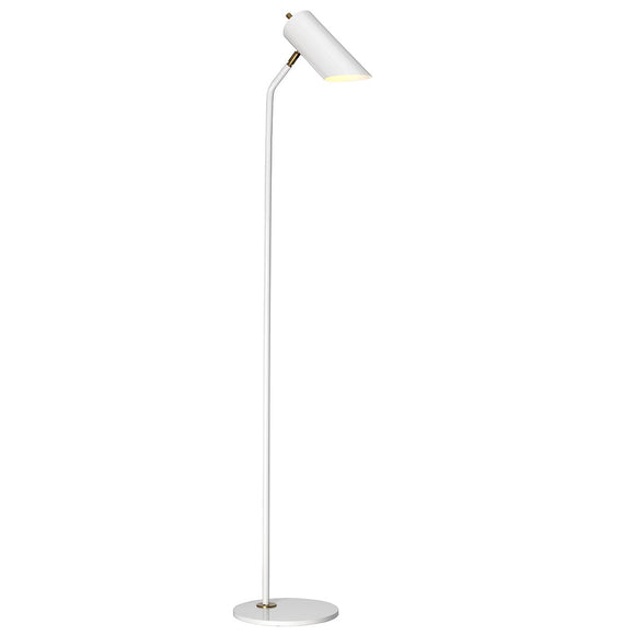 Elstead Quinto 1 Light Floor Lamp - White Aged Brass QUINTO-FL-WAB