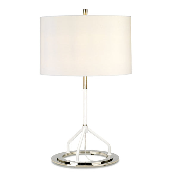 Elstead Vicenza Table Lamp - Dark Grey Polished Nickel VICENZA-TL-WPN