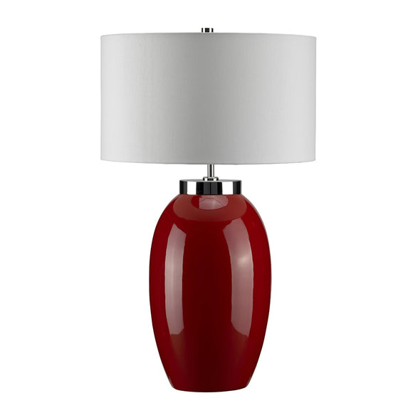 Elstead Victor 1 Light Large Table Lamp - Red VICTOR-LRG-TL-RD