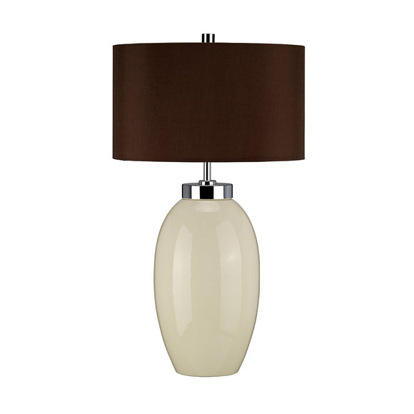 Elstead Victor 1 Light Small Table Lamp - Cream VICTOR-SM-TL-CR
