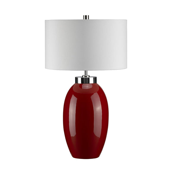 Elstead Victor 1 Light Small Table Lamp - Red VICTOR-SM-TL-RD