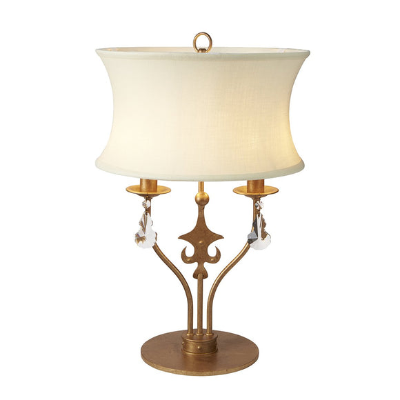 Elstead Windsor 2 Lighgt Table Lamp - Gold Patina WINDSOR-TL-GOLD