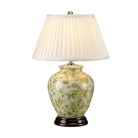 Elstead Yellow Flowers 1 Light Table Lamp YELLOWFLOWERS-TL