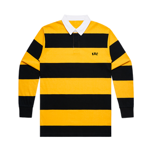 KRC EMBROIDERED RUGBY IN BLACK/YELLOW