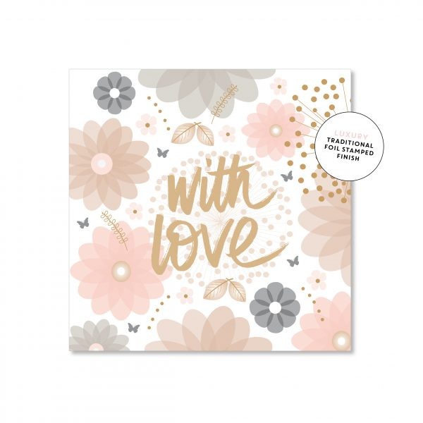 Floral With Love Card - Mini
