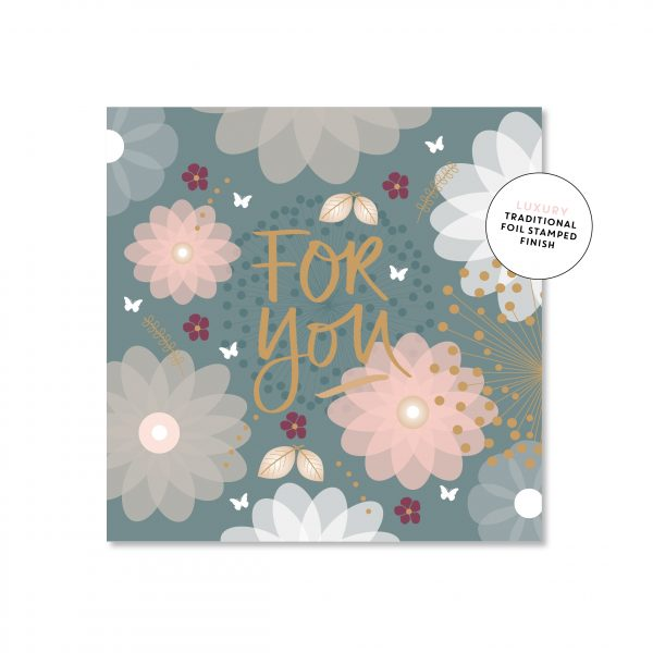 Floral For You Card - Mini