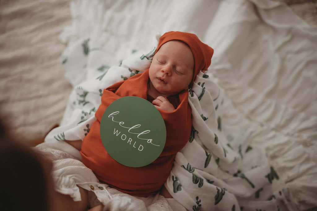 Cactus & Leaf Green Baby Milestone Cards