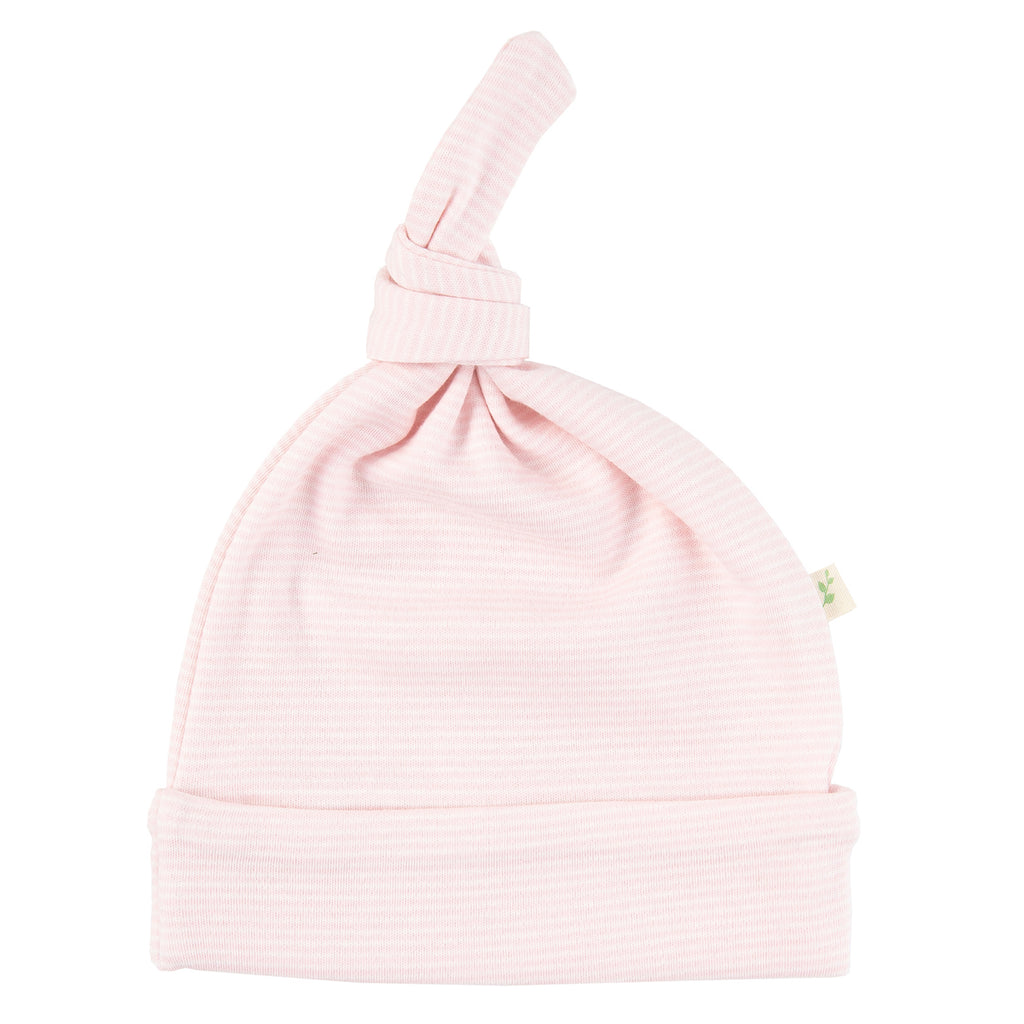 Pink Stripes Knotted Beanie