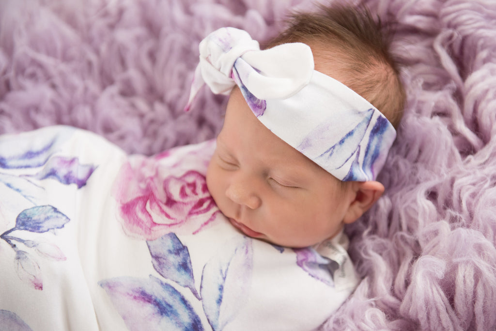 Baby Topknot Headband - Lilac Skies