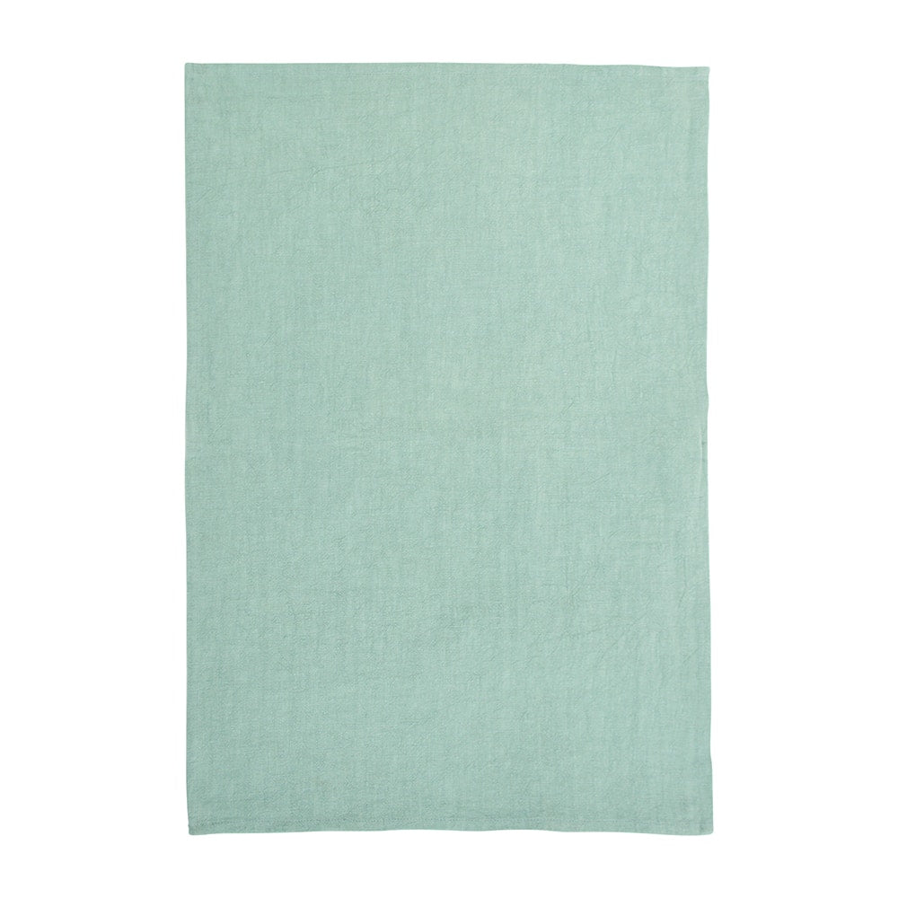 Stonewashed Tea Towel - Sage