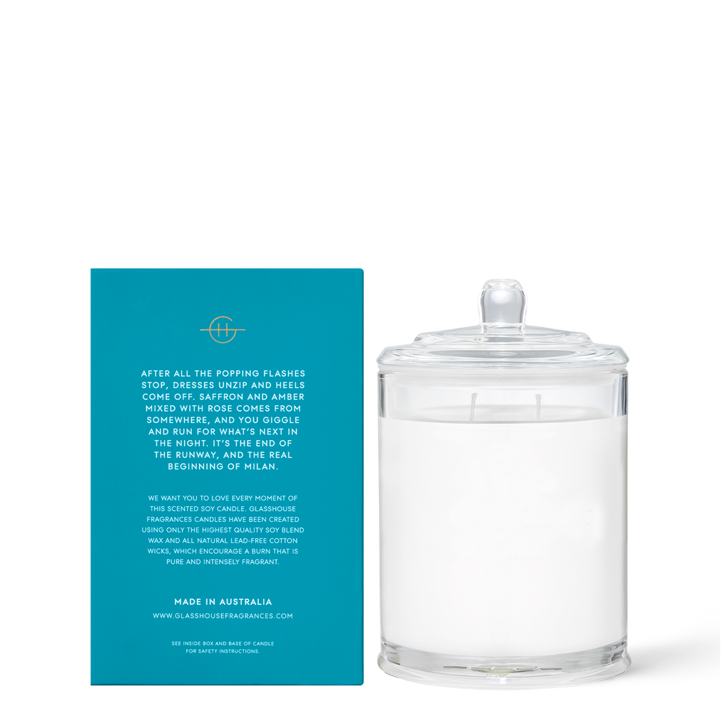 Midnight in Milan - Saffron & Rose 380g Soy Candle