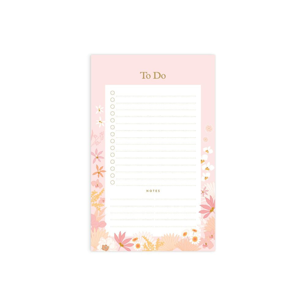 Floribunda Mini Magnet Notepad - To Do