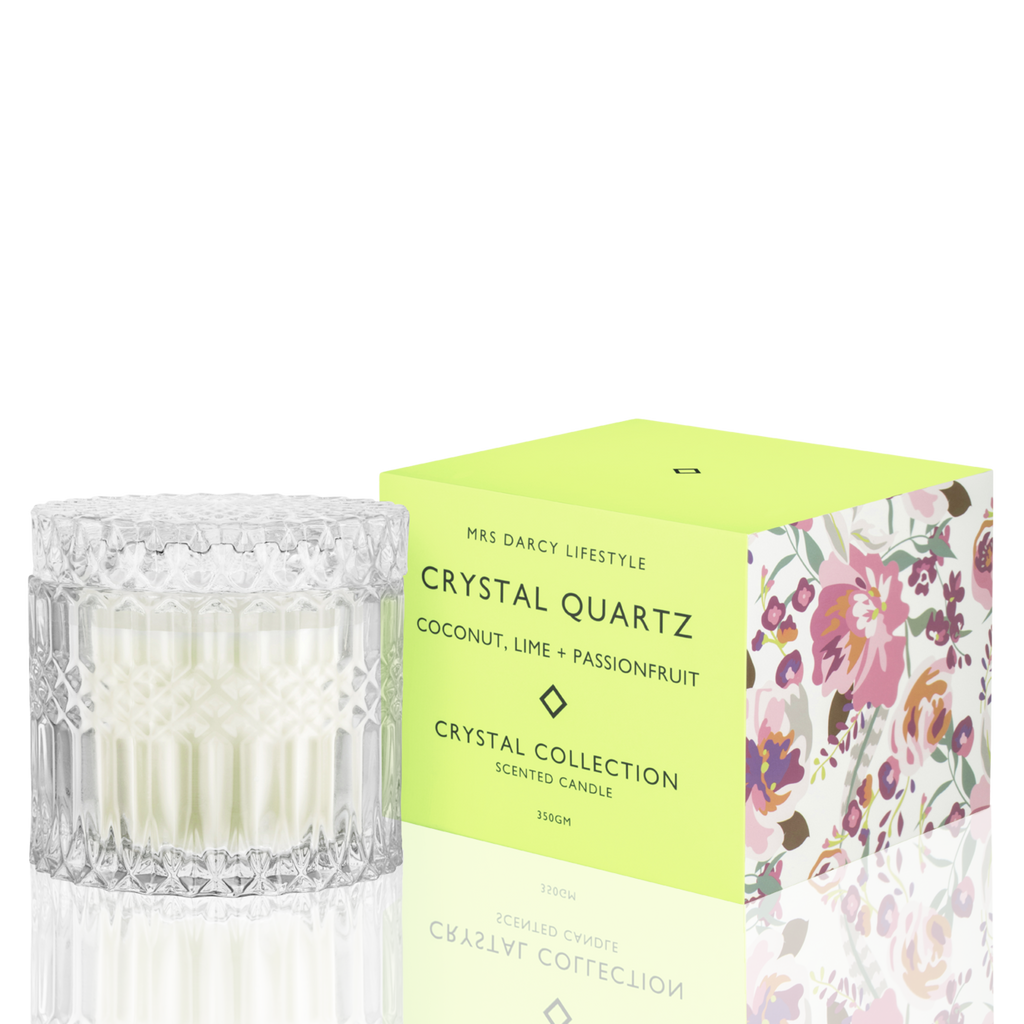 Crystal Quartz Candle - Coconut, Lime + Passionfruit