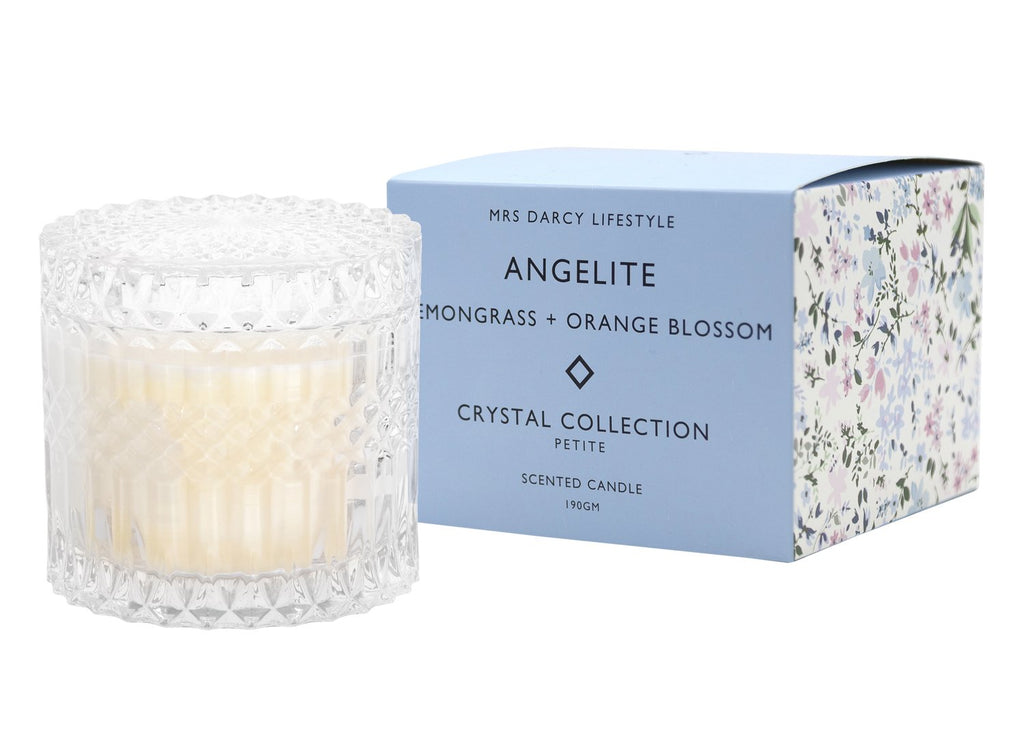 Angelite Petite Candle - Lemongrass + Orange Blossom