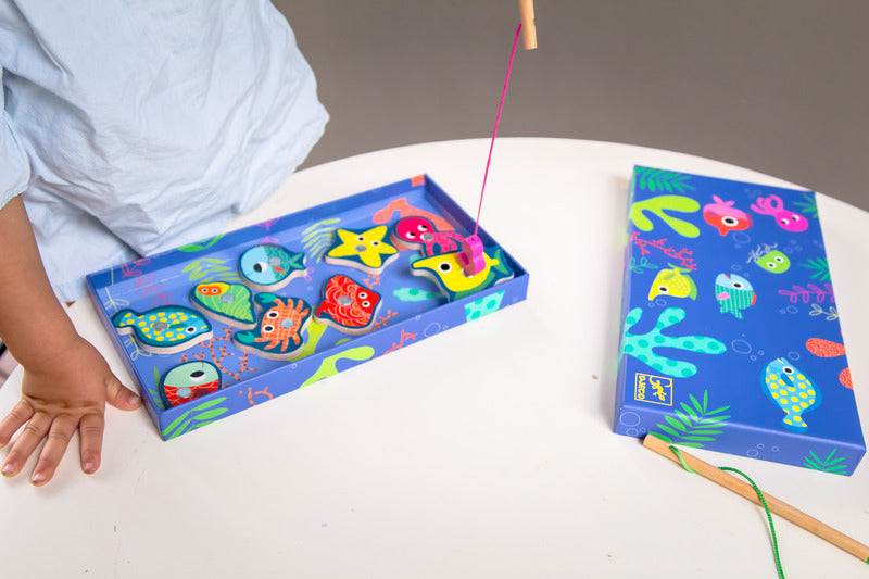Magnetic Coloured Fishing Game