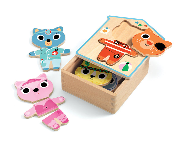 Dress Up Wooden Puzzle Set