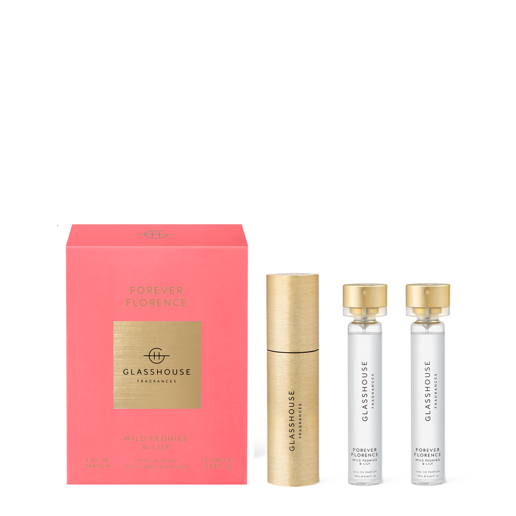 Forever Florence - Wild Peonies & Lily - Twist & Spray Refillable Atomiser