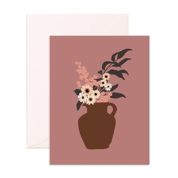 Still Life Daisy Bouquet Card