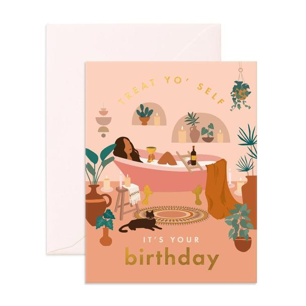 Treat Yo' Self Birthday Card