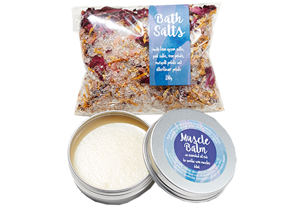 Soothe Gift Pack - Waratah Heat Pack, Bath Salts & Muscle Balm