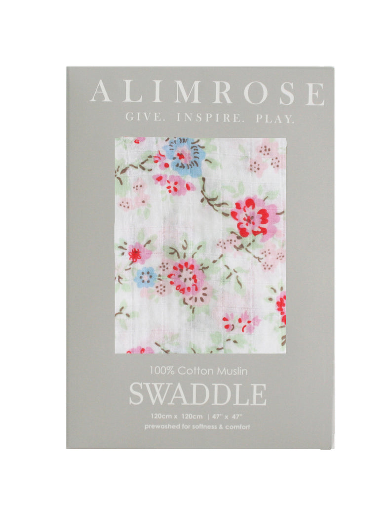 Muslin Swaddle - Cottage Floral