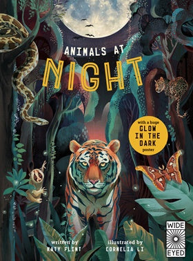 Animals at Night (w/ Glow in the Dark Poster) - Hardcover