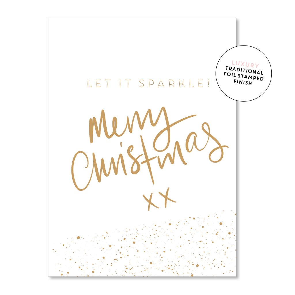 Let it Sparkle: Merry Christmas Card