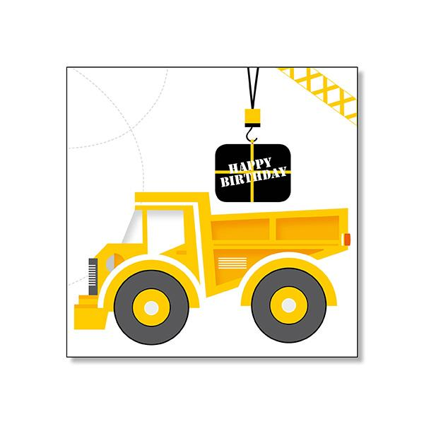 Happy Birthday Tip Truck Card - Mini