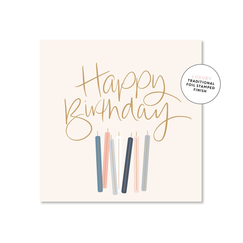 Birthday Candles Card - Mini