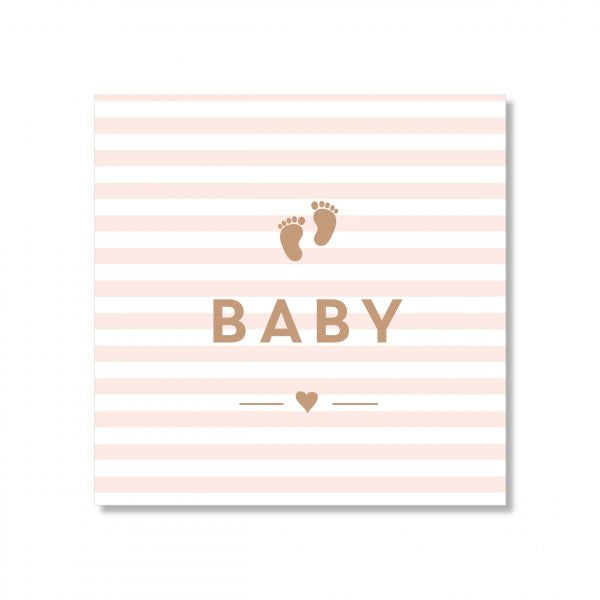 Baby Stripes Pink Card - Mini