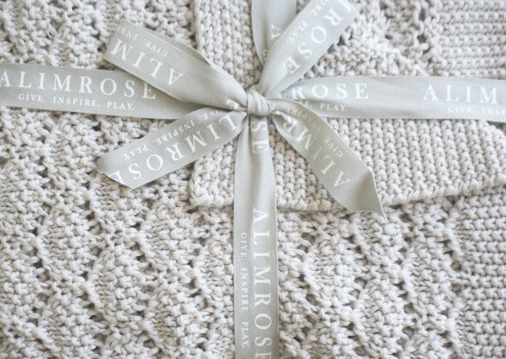 Organic Heritage Knit Baby Blanket - Cloud
