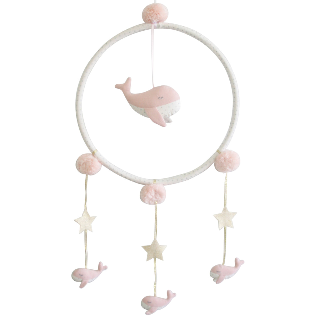 Whimsy Whale Mobile - Pink