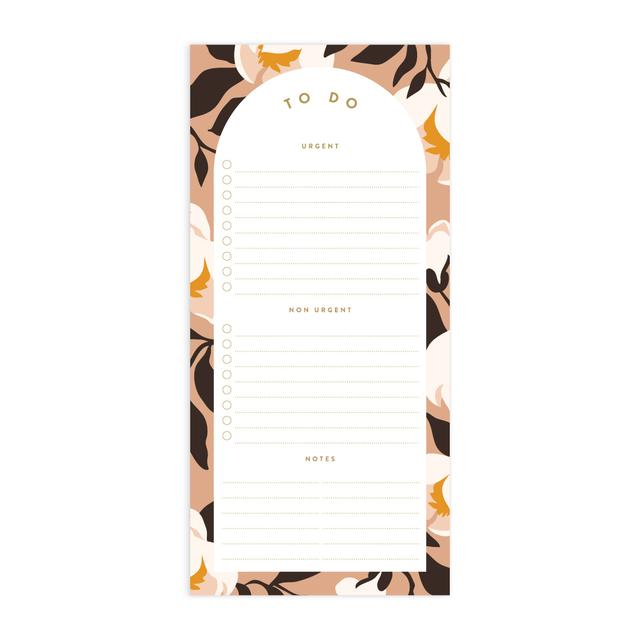 Magnolias DL Magnet Notepad - To Do