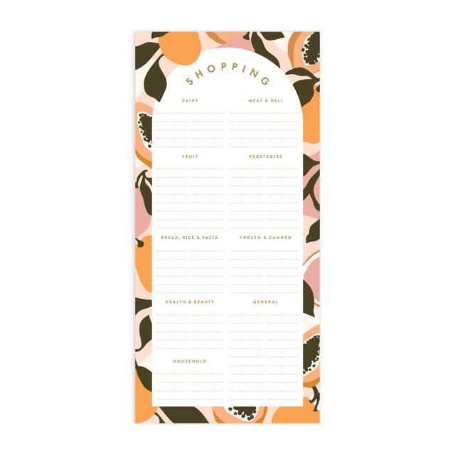 Golden Fruits DL Magnet Notepad - Shopping List