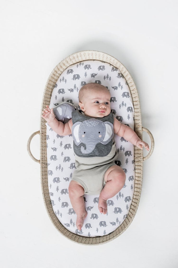Elephant Bassinet Sheet Twin Pack