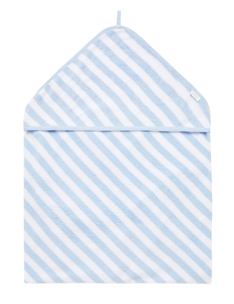 Hooded Towel - Pale Blue Stripe