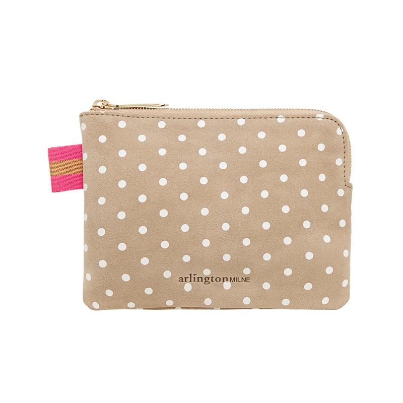 Paige Coin Purse - Taupe Spot