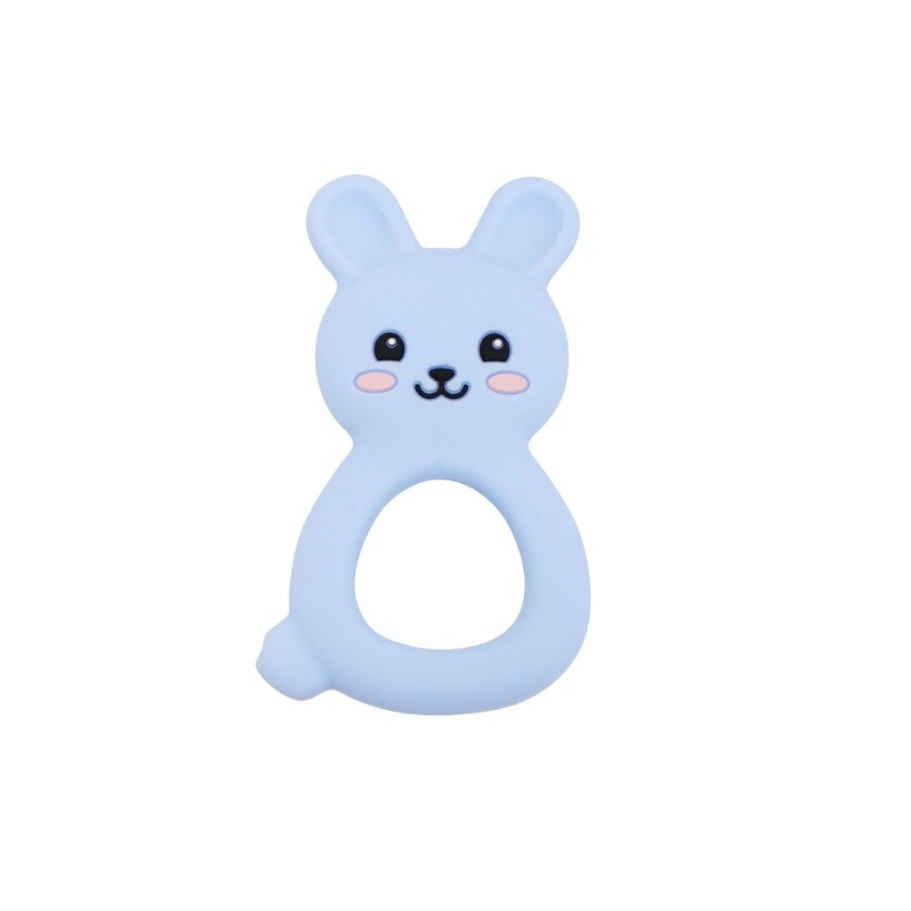 Jellies Bunny Teether - Soft Blue