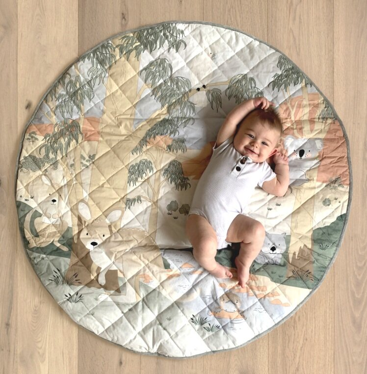 Australiana Water Resistant Playmat & Tummy Time Pillow