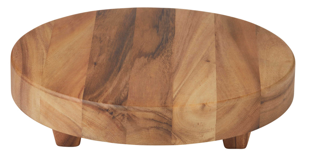 Acacia Wood Round Board with Feet