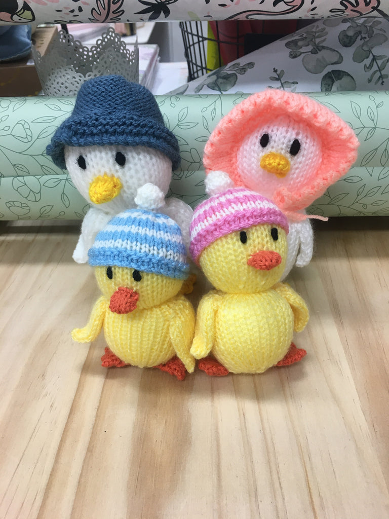 Hand Knitted Easter Daddy Ducks