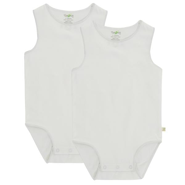 White Singlet Bodysuit - 2 pack