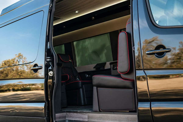 Sprinter Addons | Motorized | Bespoke Motorized Door Kit | Custom Interior | Bespoke Coach Mercedes Benz Sprinter Van Conversion | Sprinter Accessories | Sprinter Upgrades | Sprinter Add Ons | Camper Van | Adventure Van