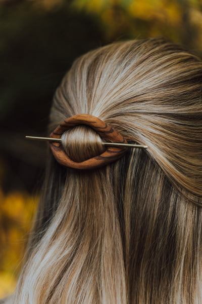Wood Hair Pin