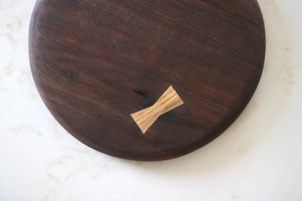 Walnut Serving Board with Bowtie Inlay