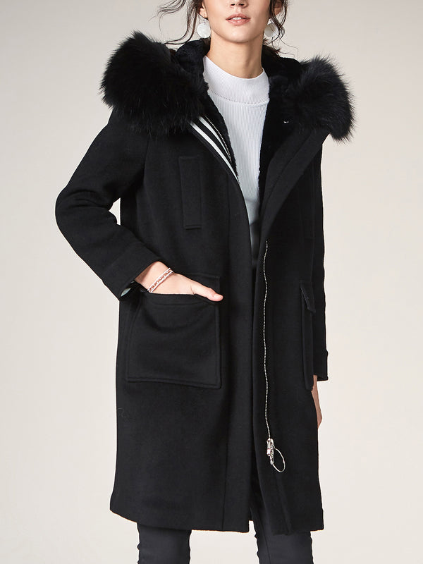 Wool Trench, Hooded Casual Overcoat